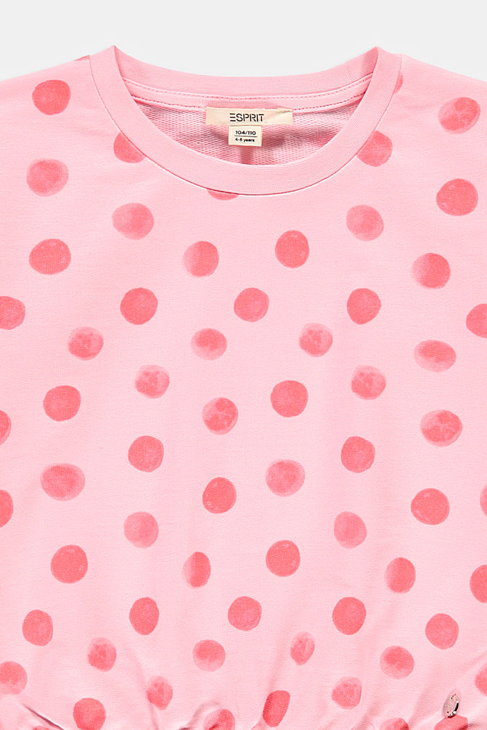 Print sweatshirt, 100% organic cotton, BLUSH, detail image number 2