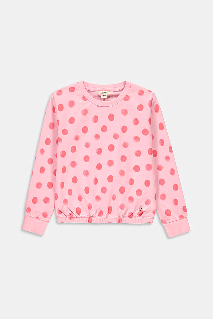 Print sweatshirt, 100% organic cotton, BLUSH, detail image number 0