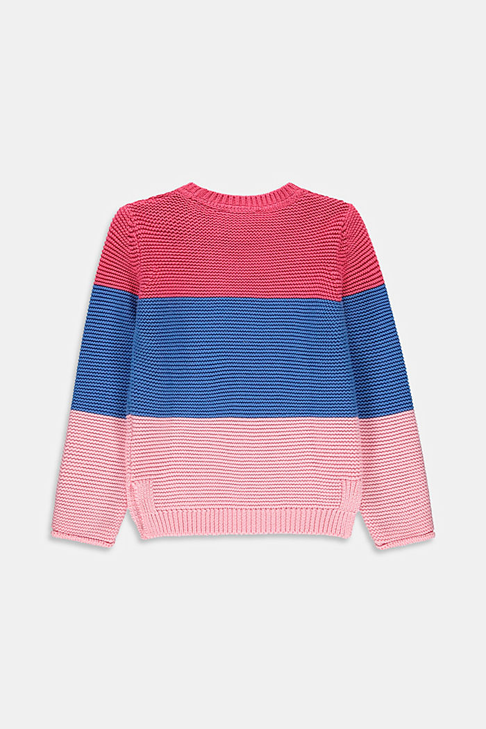 Color Block-Pullover aus 100% Baumwolle