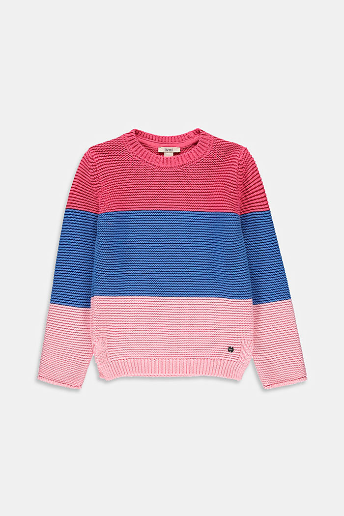 Pull-over d´aspect colour blocking, 100 % coton