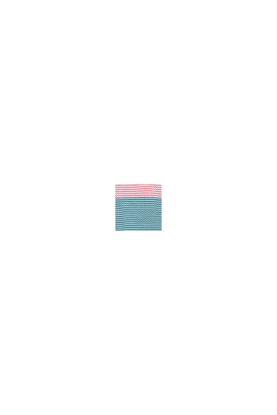 Colour block jumper in 100% cotton, BLUSH, swatch