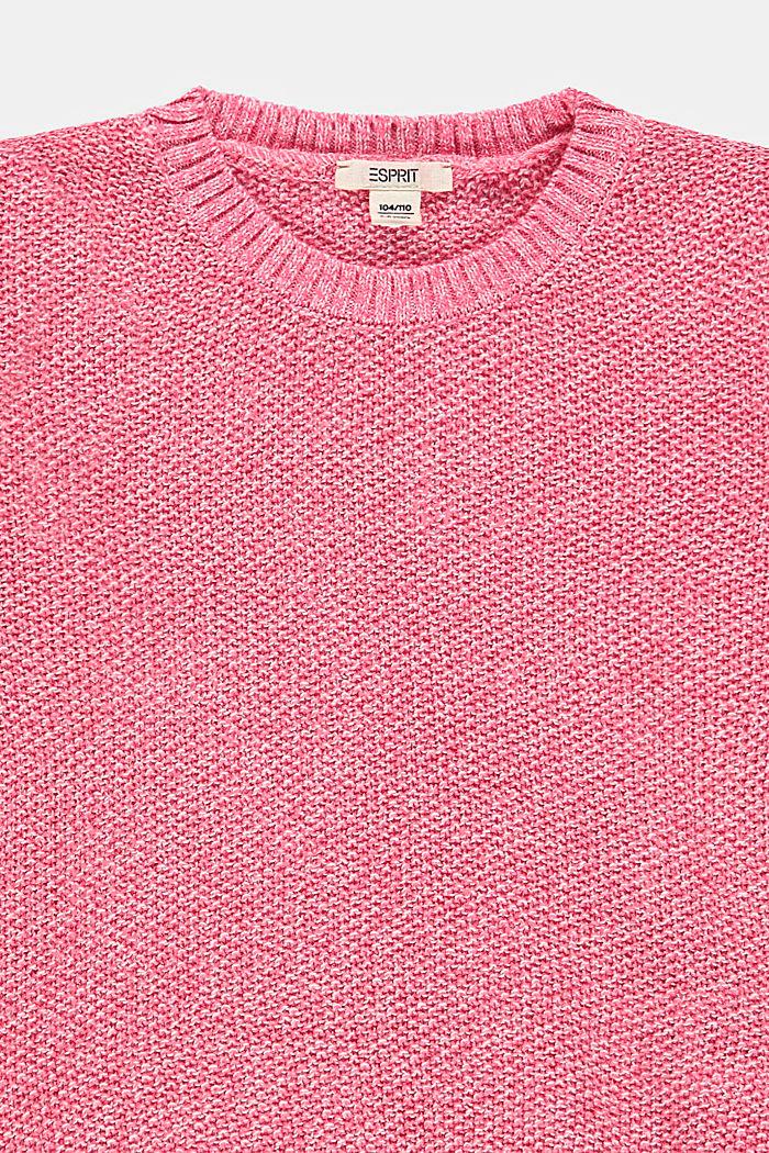 Melierter Pullover aus 100% Baumwolle, CORAL, detail image number 2