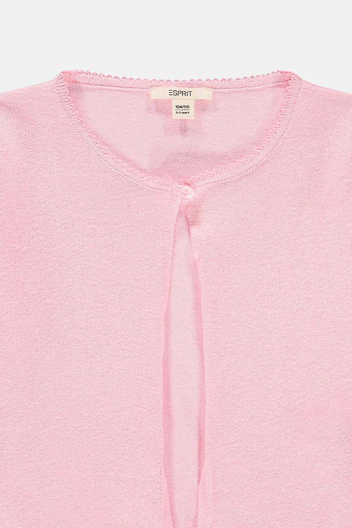 Basic cardigan in 100% cotton, BLUSH, detail image number 2
