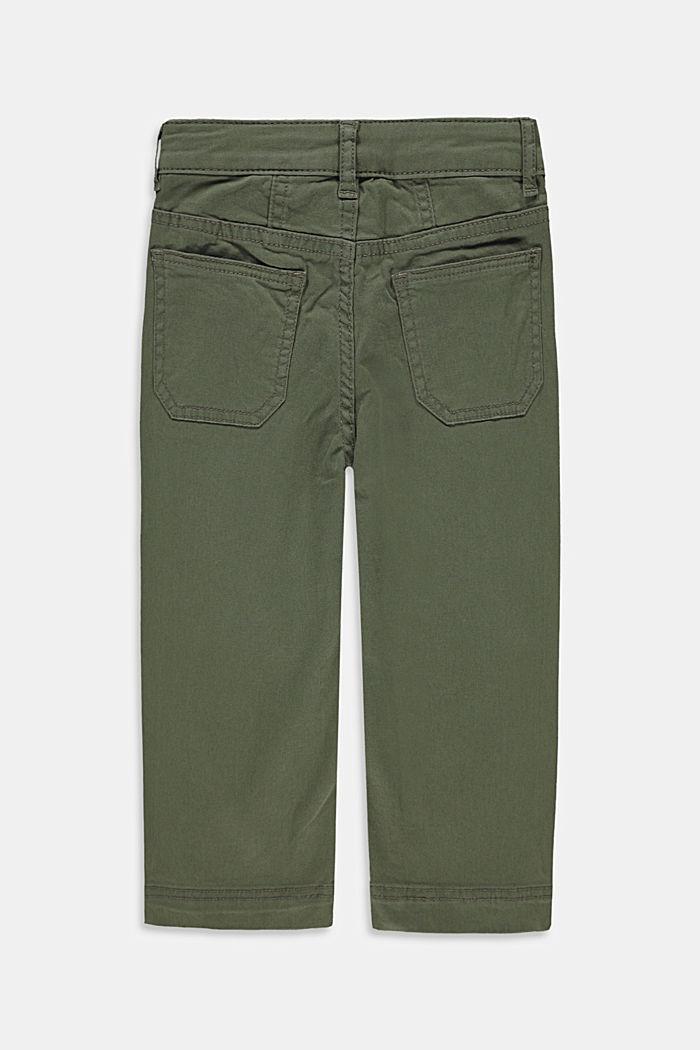 Wijde, enkellange broek met verstelbare band, DARK KHAKI, detail image number 1