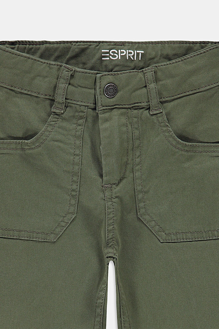 Wijde, enkellange broek met verstelbare band, DARK KHAKI, detail image number 2
