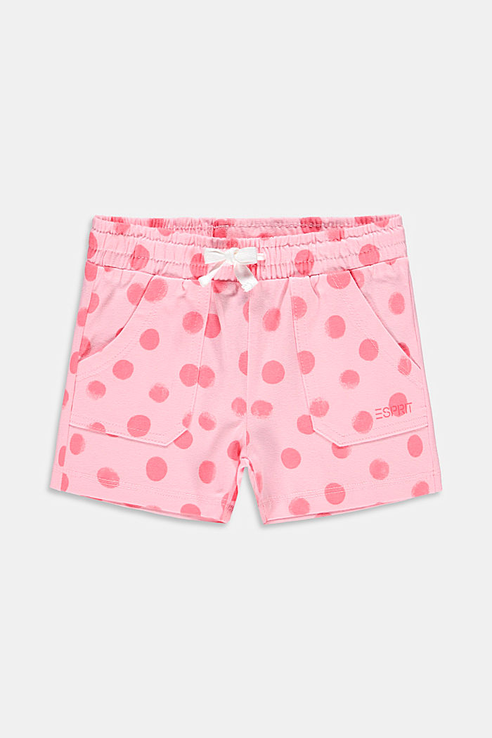 Jersey shorts with a polka dot print