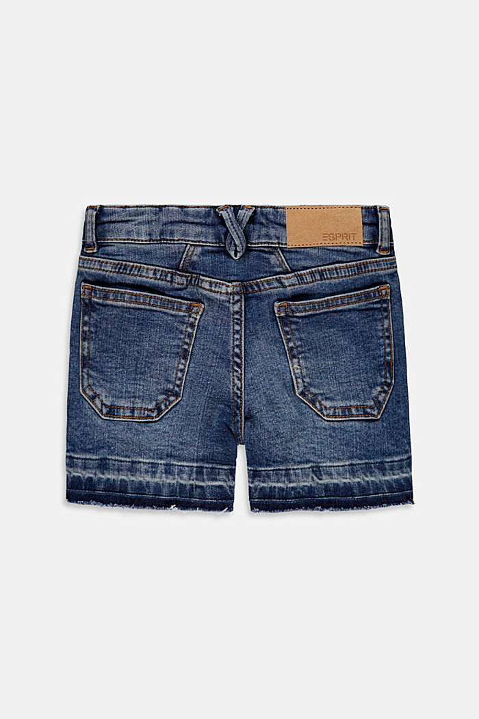 Cotton denim shorts with an adjustable waistband