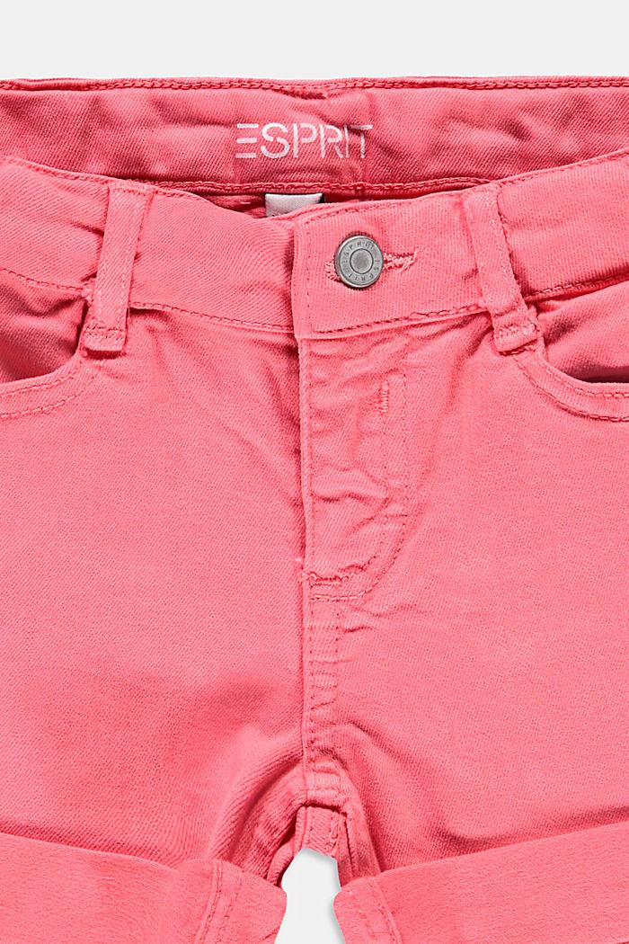 Pantalones cortos elásticos con cintura ajustable, CORAL, detail image number 2
