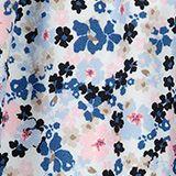 Floral bedruckter Tellerrock aus Webstoff, WHITE, swatch