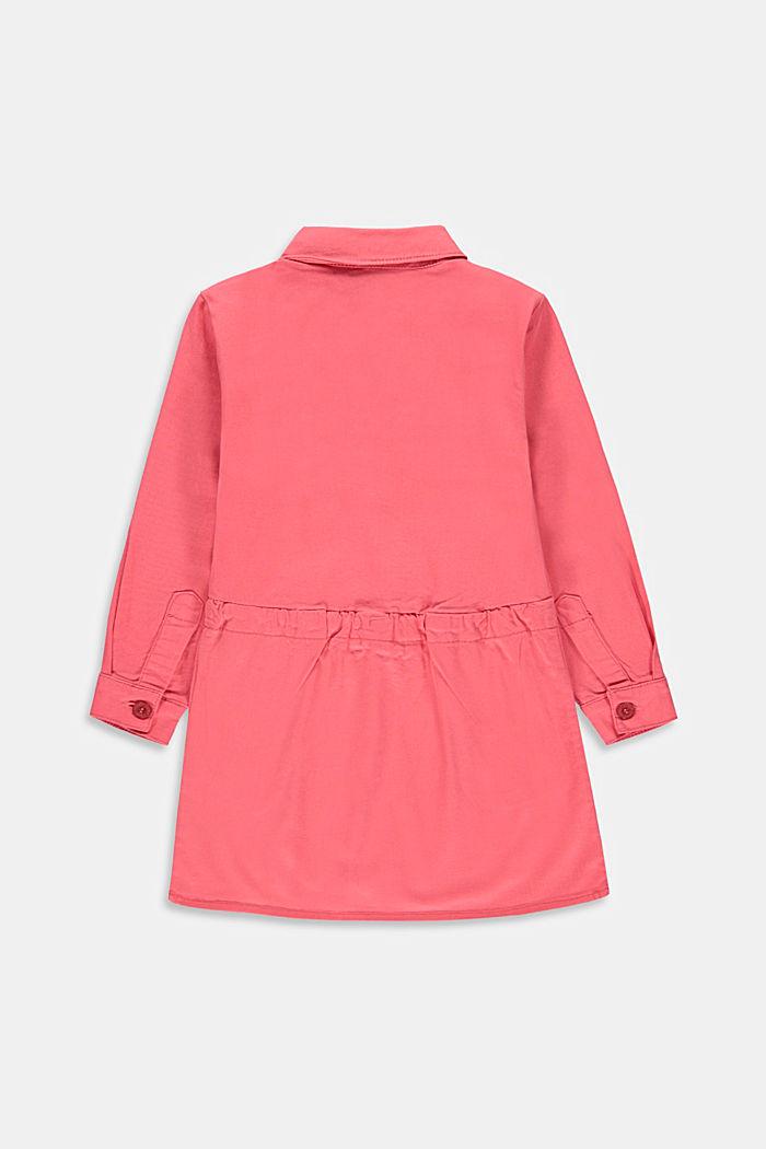 Košilové šaty, 100% bavlna, CORAL, detail image number 1