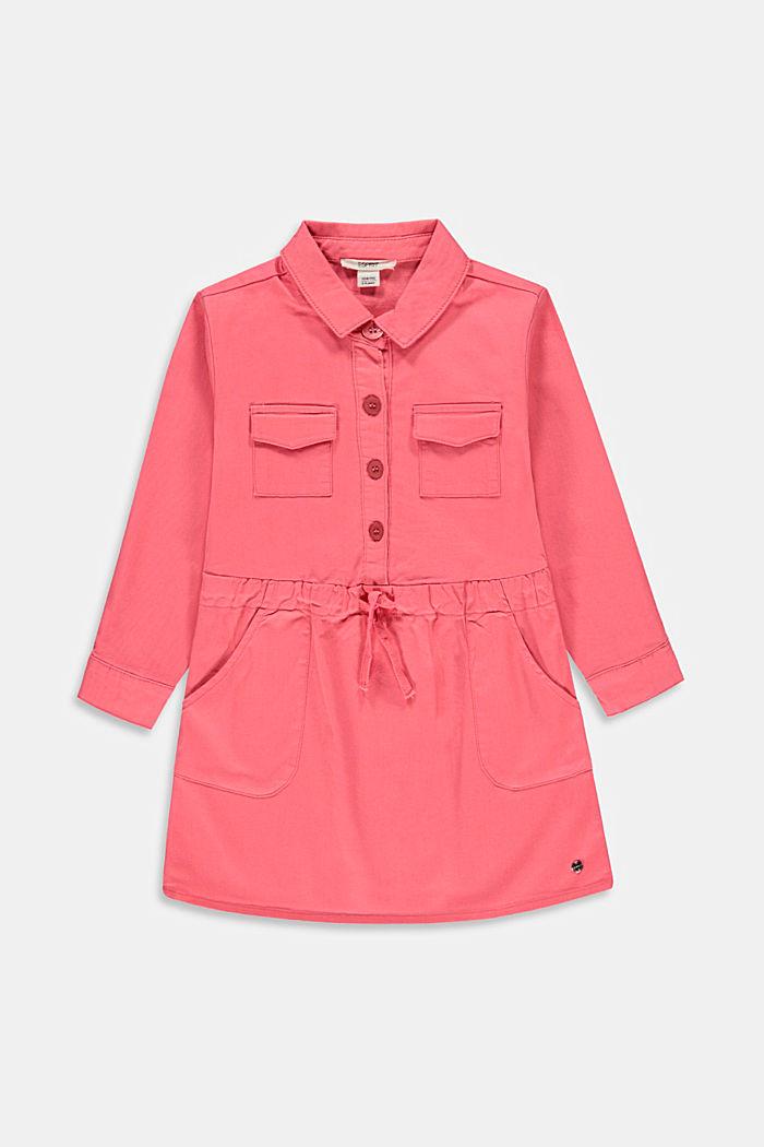 Košilové šaty, 100% bavlna, CORAL, detail image number 0