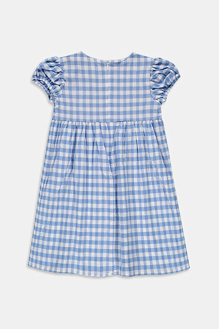 Fresh gingham check midi dress made of woven fabric, LIGHT BLUE, detail image number 1