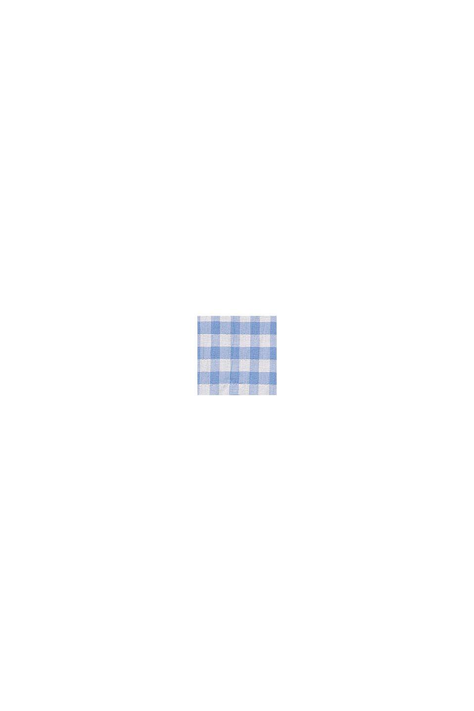 Geweven midi-jurk met frisse vichyruiten, LIGHT BLUE, swatch