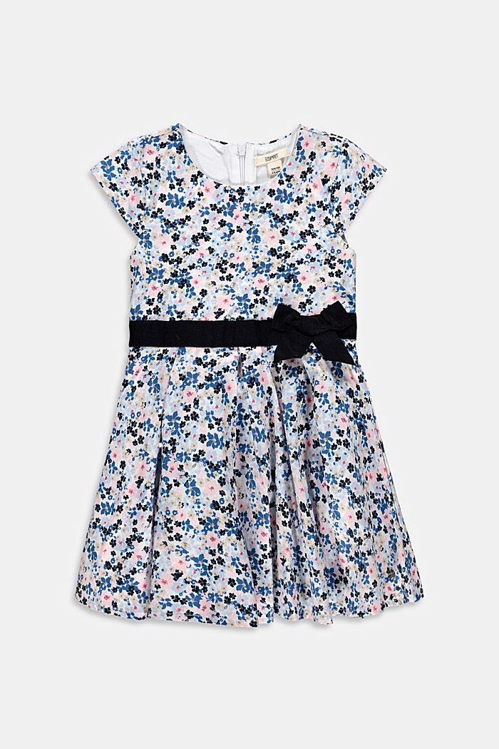 Florale bedrucktes Kleid mit Ripsbandschleife
