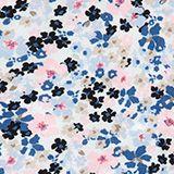 Florale bedrucktes Kleid mit Ripsbandschleife, WHITE, swatch