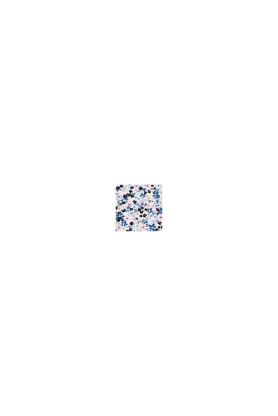 Jurk met bloemenprint en gestrikt ripslint, WHITE, swatch