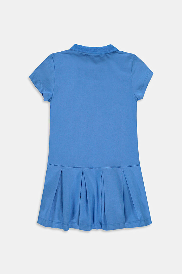 Jersey polo dress, stretch cotton, LIGHT BLUE, detail image number 1