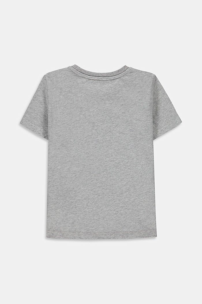 T-shirt met kreeftprint, 100% katoen, MEDIUM GREY, detail image number 1