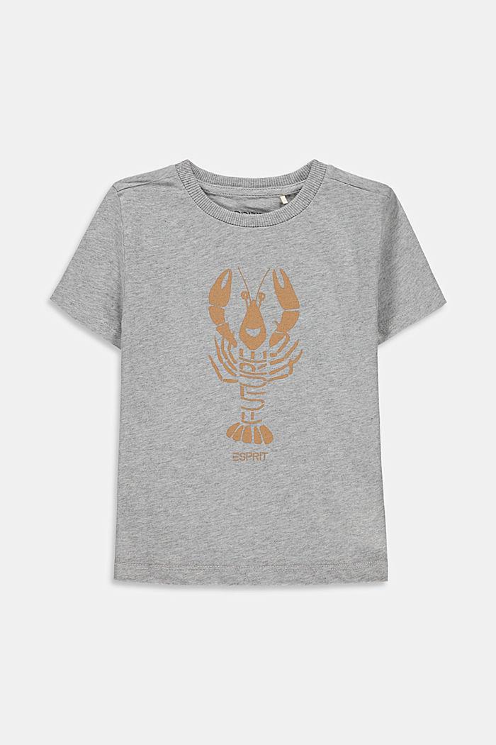 T-shirt met kreeftprint, 100% katoen, MEDIUM GREY, detail image number 0