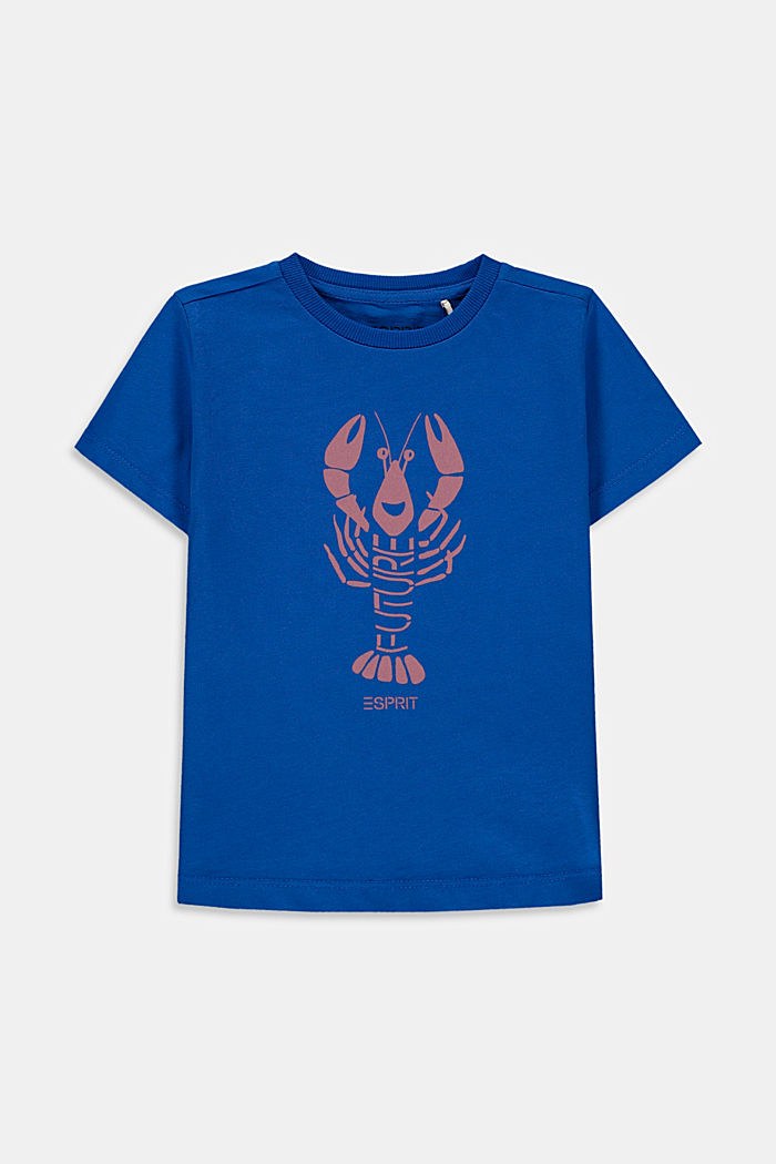 Lobster print T-shirt, 100% cotton