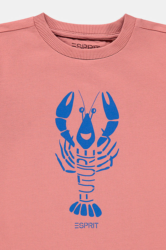 Lobster print T-shirt, 100% cotton, OLD PINK, detail image number 2