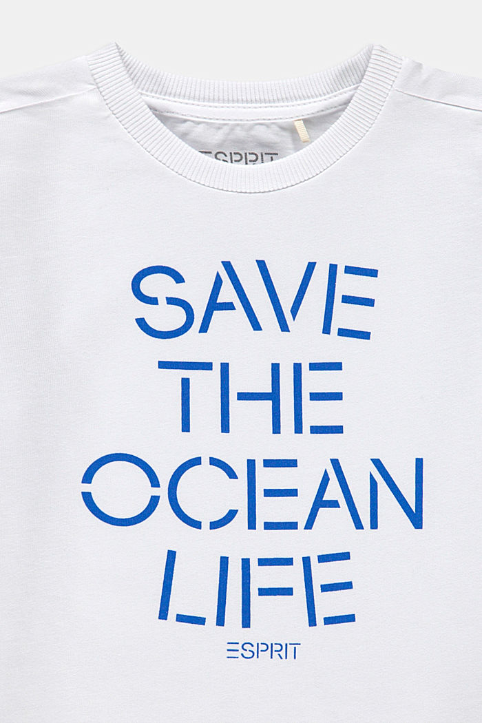 Camiseta en 100% algodón con rótulo, WHITE, detail image number 2