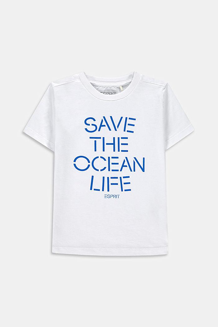 Statement-T-Shirt aus 100% Baumwolle