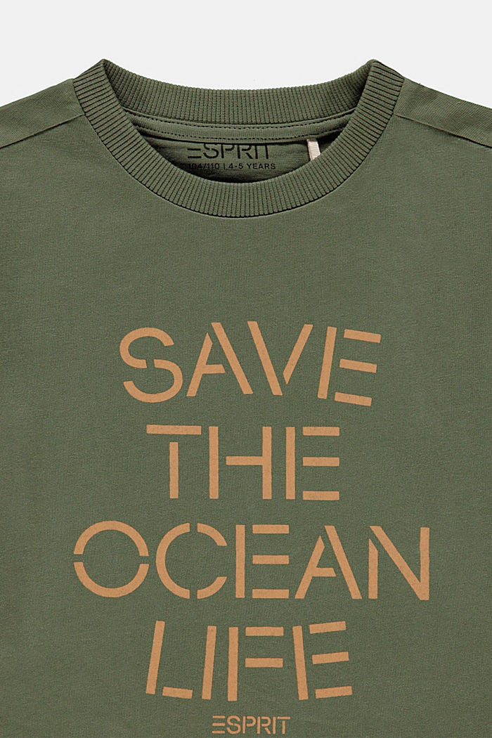 Statement T-shirt made of 100% cotton, DARK KHAKI, detail image number 2