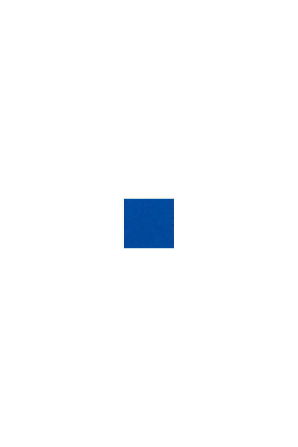 T-shirt met logoprint, 100% katoen, BLUE, swatch