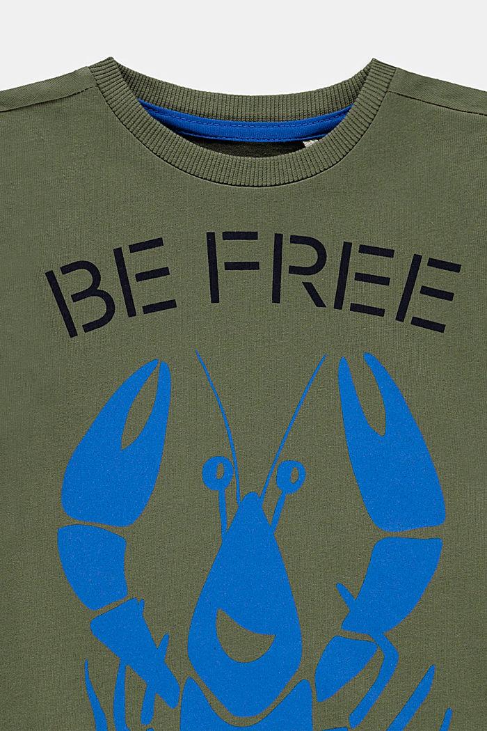 Lobster print T-shirt, 100% cotton, DARK KHAKI, detail image number 2