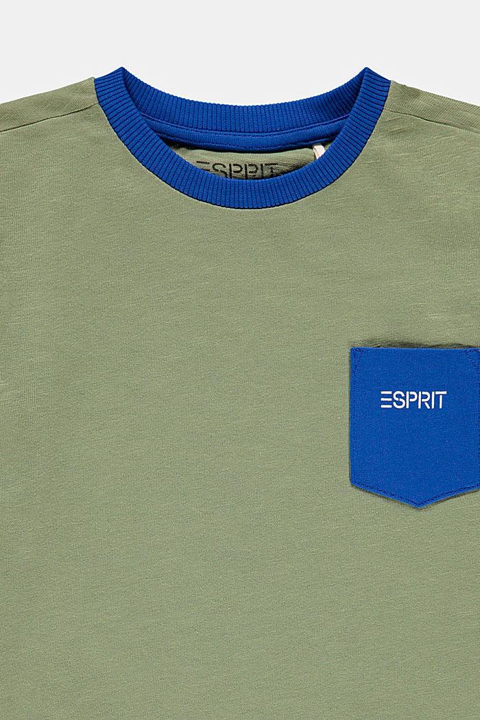 Slub jersey T-shirt with pocket, 100% cotton, DARK KHAKI, detail image number 2