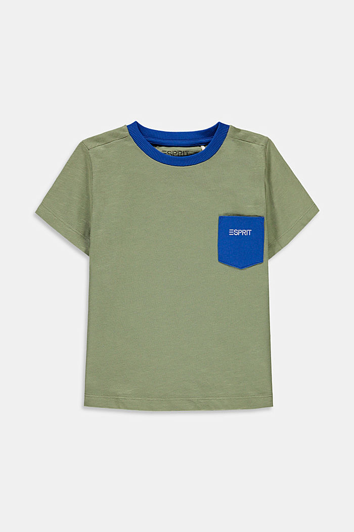 Slub jersey T-shirt with pocket, 100% cotton