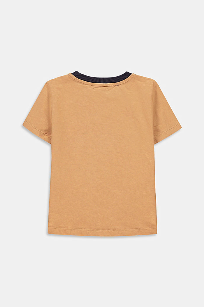 T-shirt en jersey flammé à poche, 100% coton, OLD PINK, detail image number 1