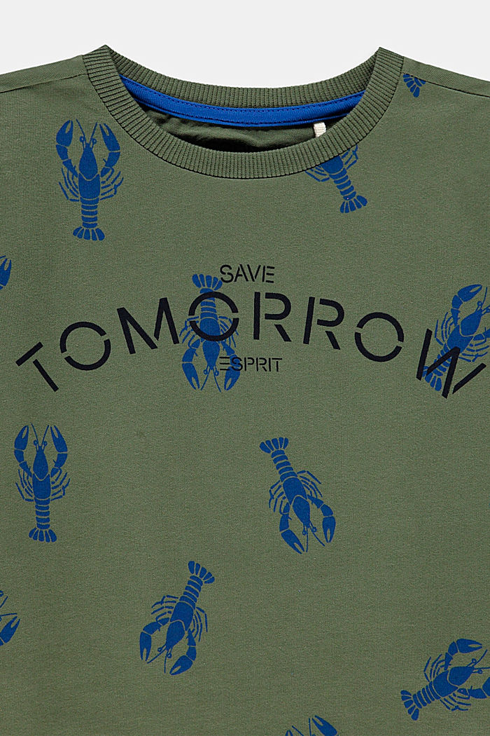 Statement T-shirt made of 100% cotton, DARK KHAKI, detail image number 2