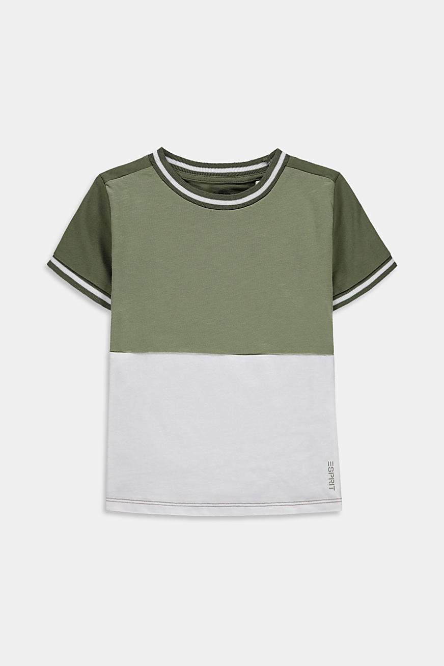 T-shirt colour blocking, 100 % coton