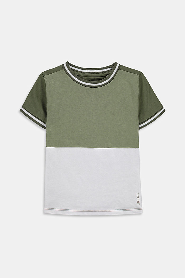 Colour block T-shirt in 100% cotton