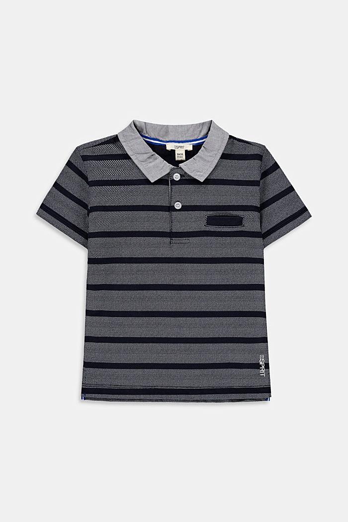 Polo mit Stoffkragen, 100% Baumwolle