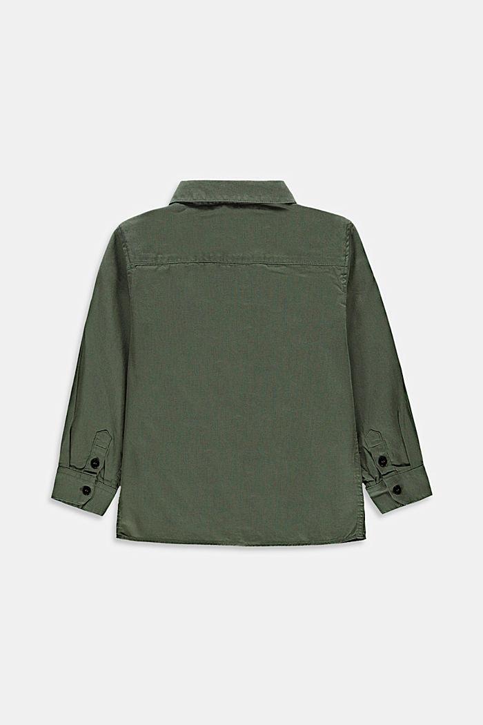 Chemise satinée au look Utility, 100% coton