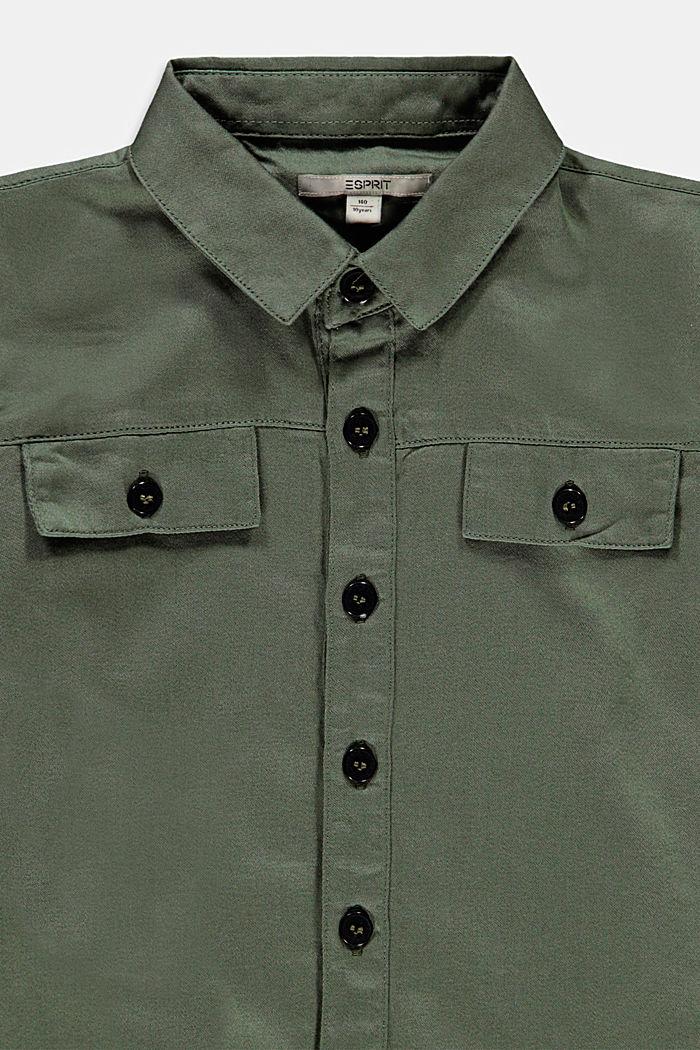 Shirts woven, DARK KHAKI, detail image number 2
