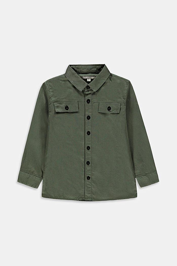 Shirts woven, DARK KHAKI, detail image number 0