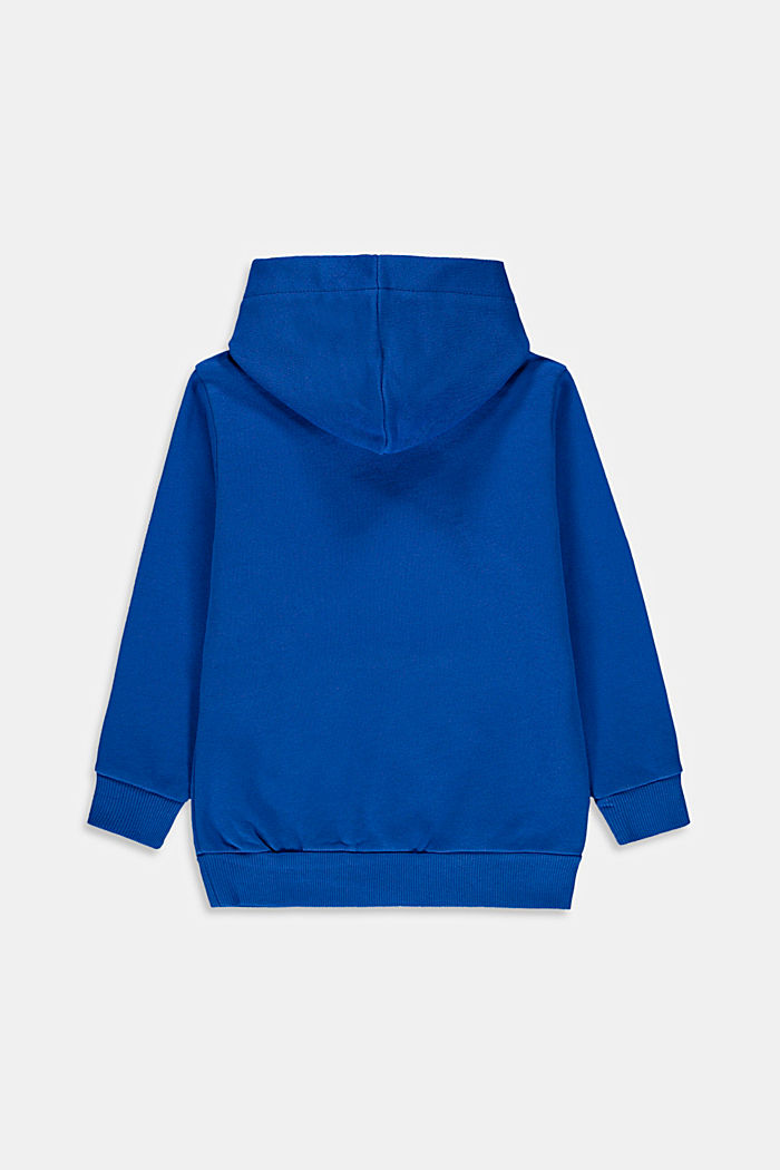 Hoodie with logo print, 100% cotton, TURQUOISE, detail image number 1