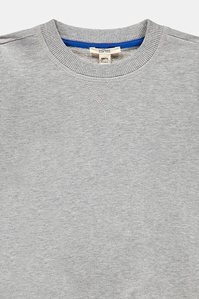 2-in-1 effect sweatshirt, 100% cotton, MEDIUM GREY, detail image number 2