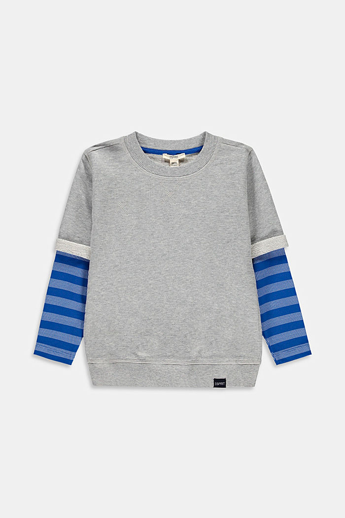 2-in-1 effect sweatshirt, 100% cotton