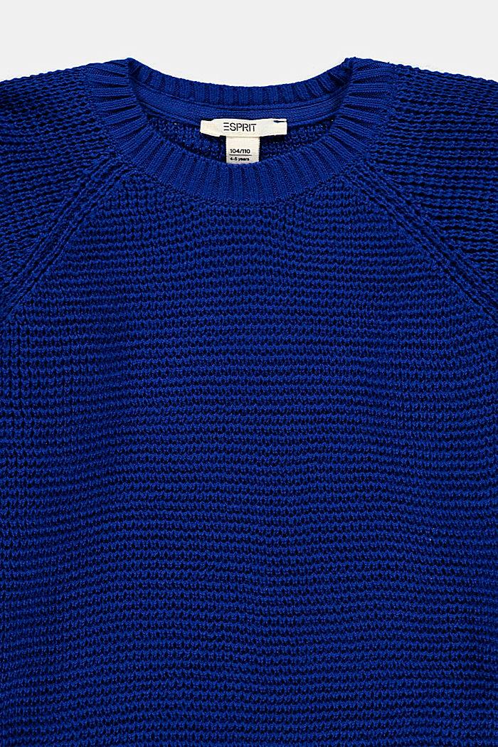 Sweter w 100% z bawełny, BLUE, detail image number 2