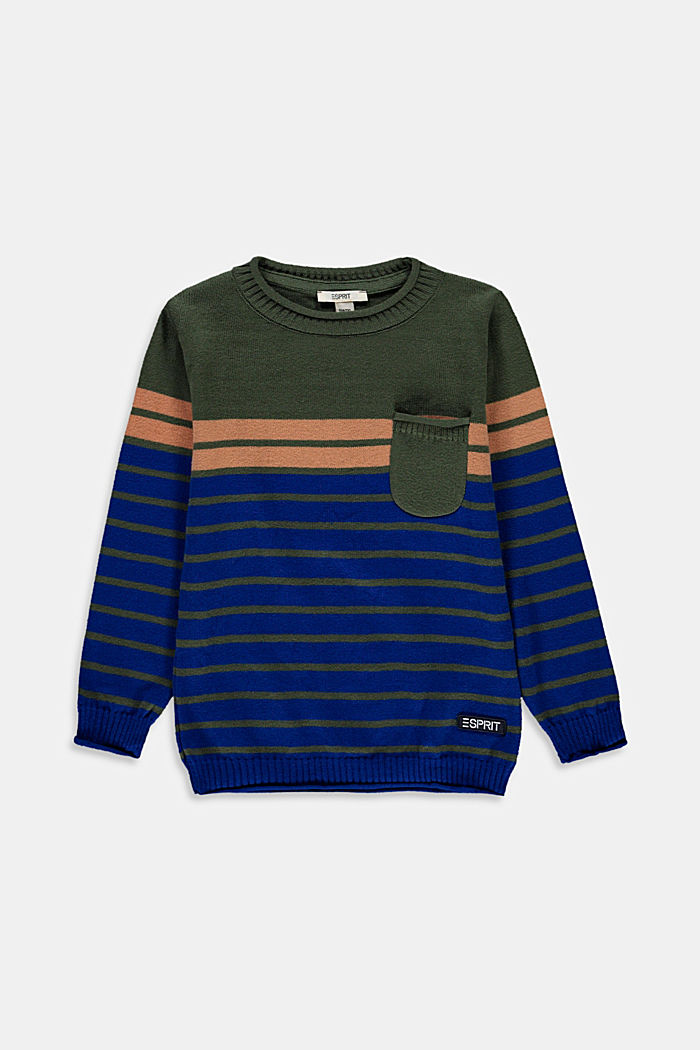 Striped jumper in 100% cotton