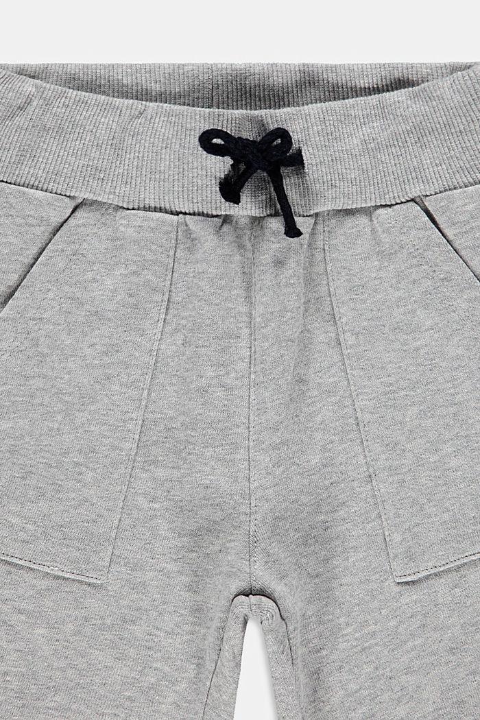 Sweat shorts made of 100% cotton, MEDIUM GREY, detail image number 2