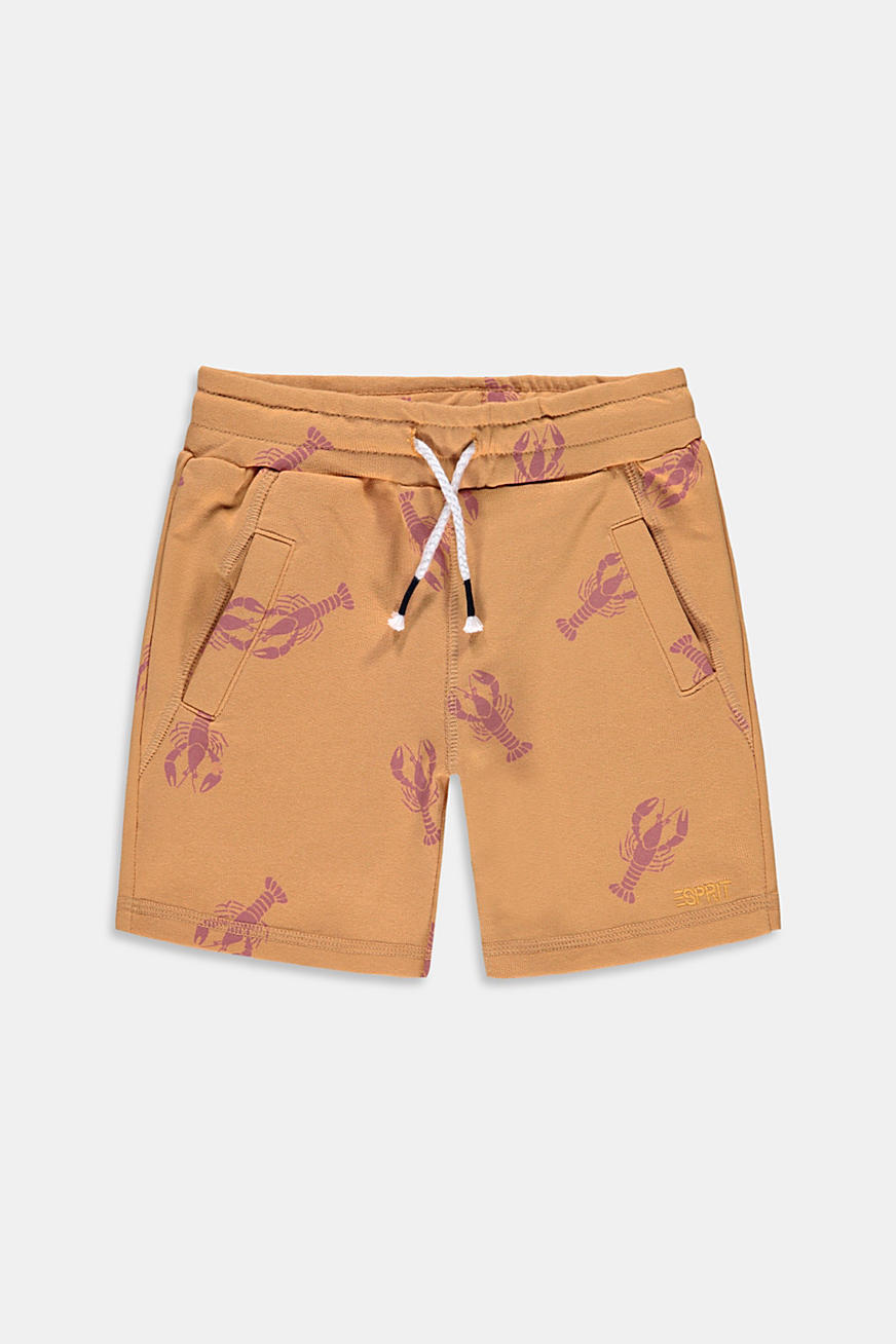 Sweat-bermudashorts med hummerprint