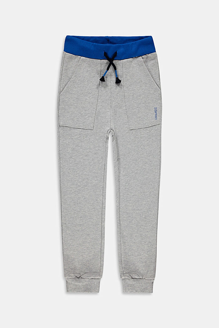 Tracksuit bottoms made of sweatshirt fabric, 100% cotton