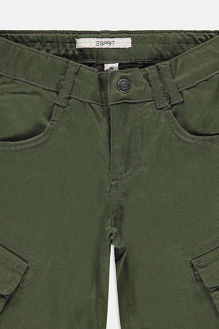 Cargo shorts with adjustable waistband, DARK KHAKI, detail image number 2