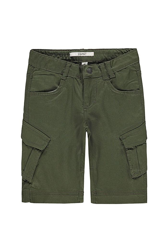 Cargo shorts with adjustable waistband, DARK KHAKI, detail image number 3